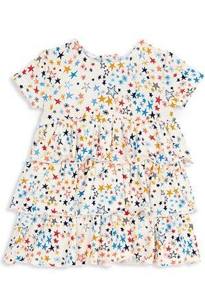 Magnetic Me Girls Printed Dresses - Little Girl's Starburst Short-Sleeve Dress