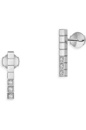 Chopard Earrings - Ice Cube Diamond & 18K Stud Earrings