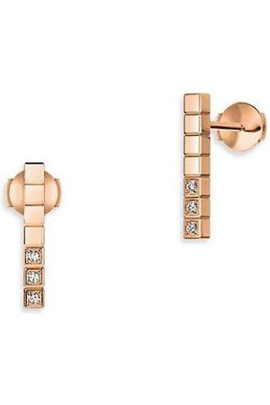 Chopard Earrings - Ice Cube Diamond & 18K Rose Stud Earrings