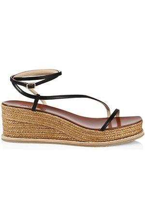 Jimmy Choo Drive Leather Espadrille Wedge Sandals