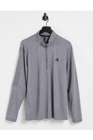 adidas 3 stripe quarter zip sweatshirt in