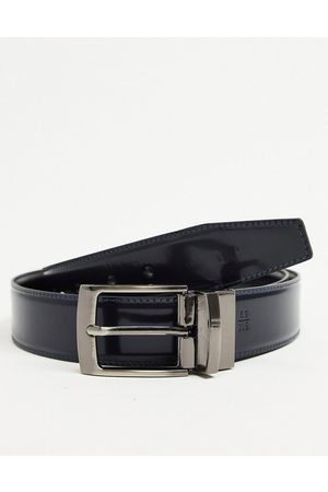 VALENTINO Victor reversable pin buckle belt in and navy