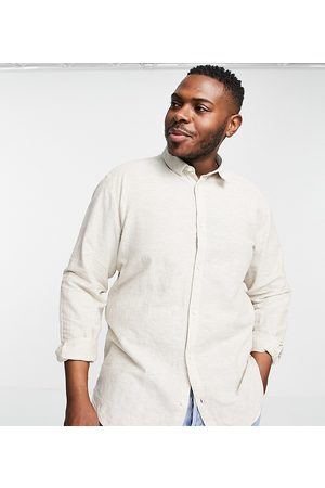 Only & Sons Linen shirt in -Neutral