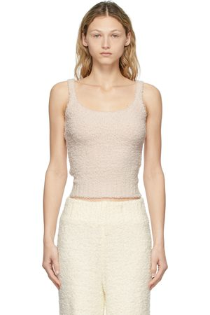 SKIMS Pink Knit Cozy Tank Top