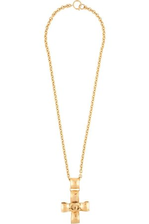 CHANEL 1994 CC cross pendant necklace