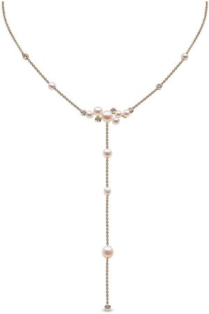 Yoko London 18kt yellow Trend freshwater pearl and diamond necklace