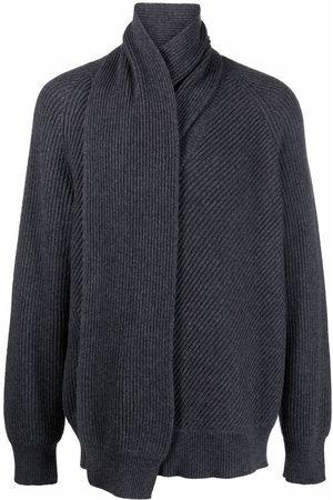 Alexander McQueen Scarf-neck wool jumper