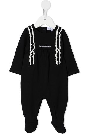 Emporio Armani Logo-embroidered cotton romper