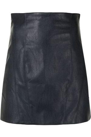 MANNING CARTELL Women Leather Skirts - High-waisted leather miniskirt