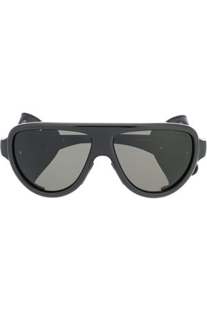 Moncler Aviator wrap-around sunglasses