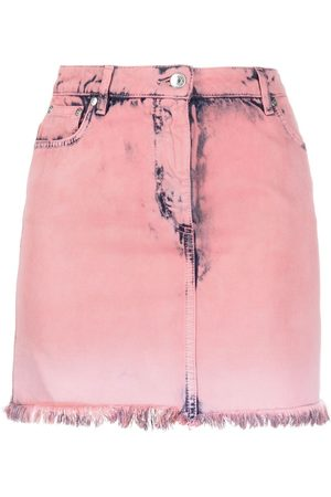 Msgm Acid-wash denim miniskirt