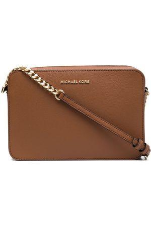 Michael Kors Women Handbags - Logo-plaque leather satchel bag