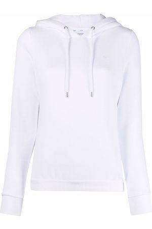 Calvin Klein Elasticated logo-hem hoodie