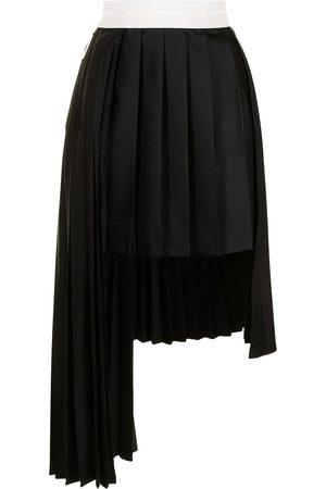 Peter Do Asymmetrical pleated wool skirt