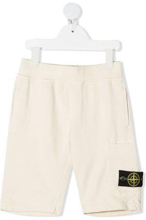 Stone Island Compass-logo straight shorts