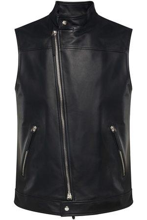 Giuseppe Zanotti Leather zip-up waistcoat