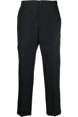 Alexander McQueen Logo-strap tailored trousers