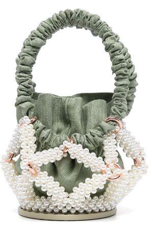 0711 Star pearl-embellished bucket bag