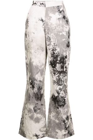 Bambah Tie-dye print flared trousers