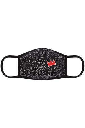 Dolce & Gabbana Logo and heart print face mask
