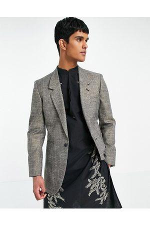 ASOS Skinny longline blazer with shimmer