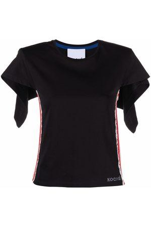 KOCHÉ Lace-trim blouse