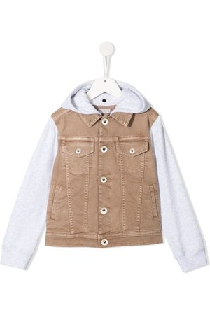 Brunello Cucinelli Two-tone hooded jacket
