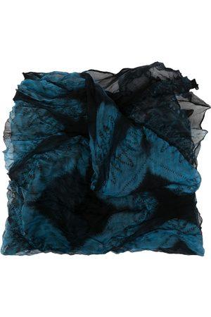 Issey Miyake 2000s silk embroidered scarf