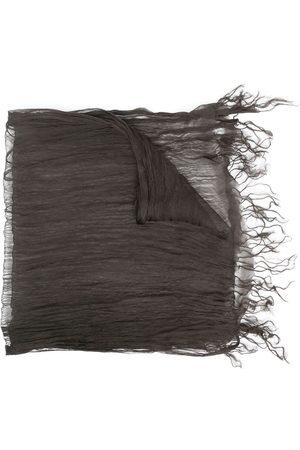 Issey Miyake 2000s silk creased-effect scarf