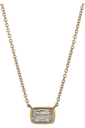 Kwiat 18kt yellow diamond bezel set Ashoka pendant necklace
