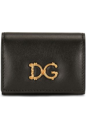 Dolce & Gabbana Logo-plaque snap-fastening pouch