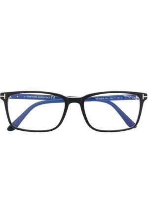Tom Ford Men Sunglasses - Blue block rectangle-frame glasses