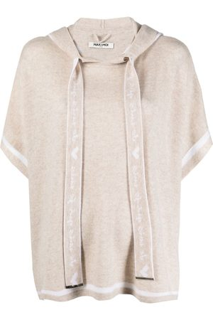 MAX & MOI Hooded poncho top