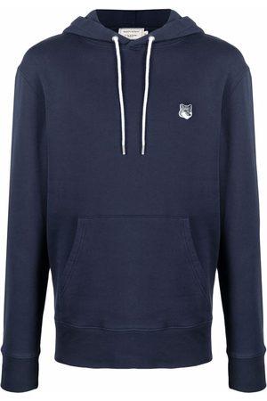Maison Kitsuné Men Sweatshirts - Logo-patch cotton hoodie