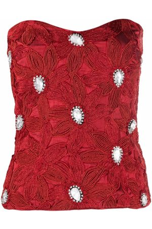 A.N.G.E.L.O. Vintage Cult 1980s bead-embroidered strapless top