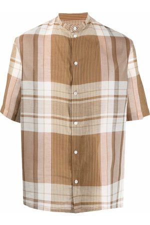 LEMAIRE Checked-print shirt