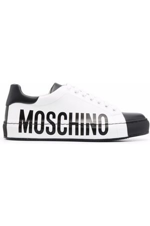 Moschino Women Sneakers - Logo-print low-top sneakers