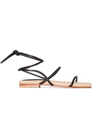 St Agni Leo tie-fastening sandals