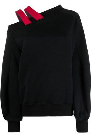 Atu Body Couture Strap-detail one-shoulder jumper