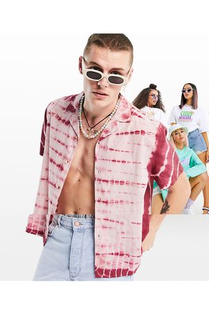 ASOS Relaxed fit cotton tie dye shirt in