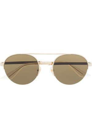 Gucci Logo-engraved round-frame sunglasses