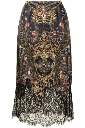 Camilla Abingdon Palace silk slip midi skirt
