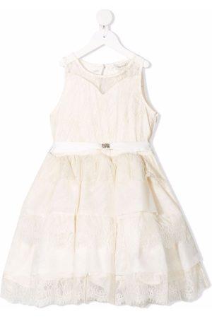 TWINSET Kids Lace-patterned layered dress