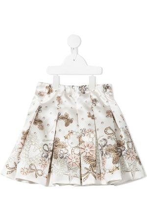 MONNALISA Girls Printed Skirts - Jewel-print box pleat skirt
