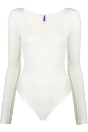 MAISON CLOSE Long-sleeved modal bodysuit