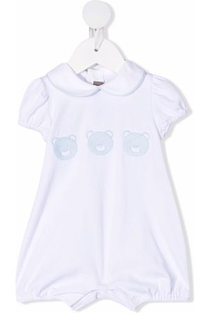 LITTLE BEAR Embroidered peter pan collar romper