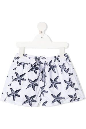MC2 SAINT BARTH Starfish-motif drawstring-waist swim shorts
