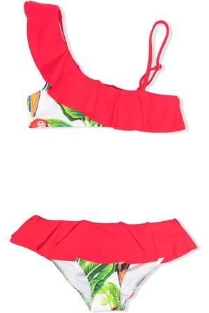 MC2 SAINT BARTH Girls Bikinis - Off-shoulder ruffled bikini set