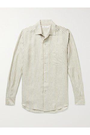 Loro Piana Men Casual - Striped Linen Shirt