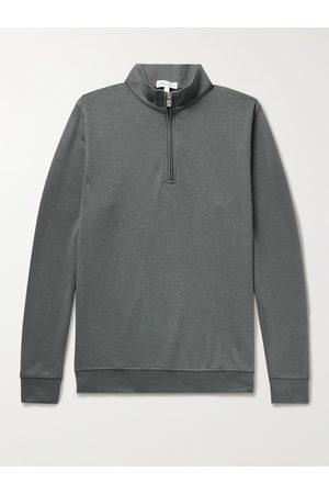 Peter Millar Crown Mélange Stretch Cotton and Modal-Blend Half-Zip Sweatshirt